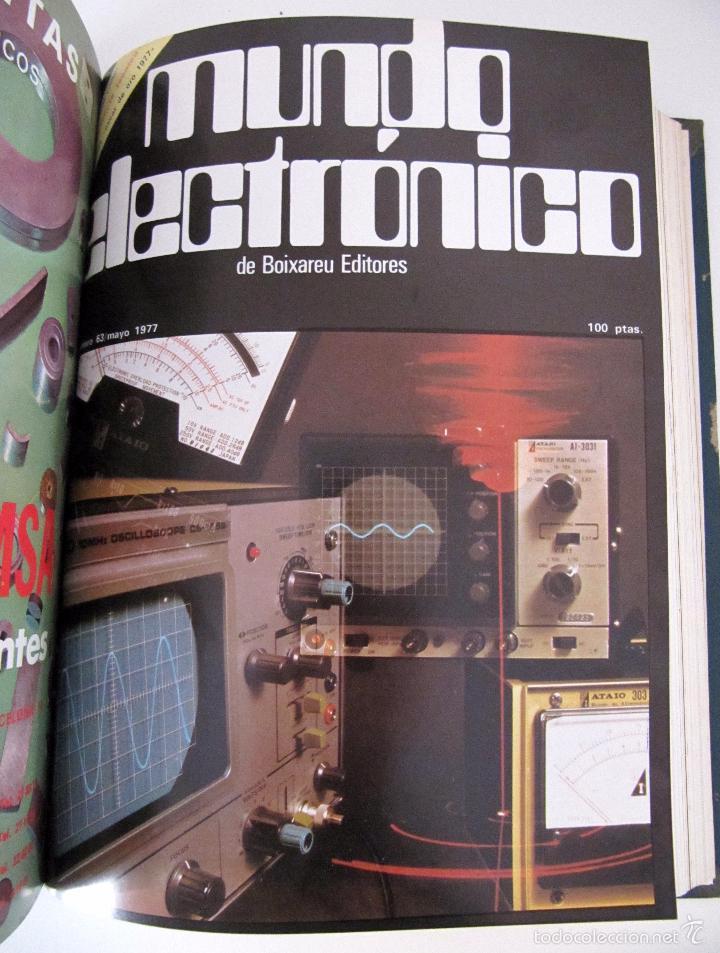 Radios antiguas: TOMO AÑO 1977 1º SEMESTRE DE LA REVISTA MUNDO ELECTRONICO - 6 REVISTAS ENCUADERNADO EXCELENTE - Foto 7 - 55985696