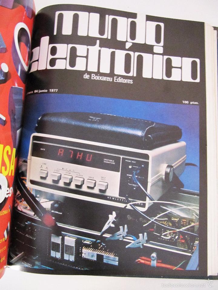 Radios antiguas: TOMO AÑO 1977 1º SEMESTRE DE LA REVISTA MUNDO ELECTRONICO - 6 REVISTAS ENCUADERNADO EXCELENTE - Foto 9 - 55985696