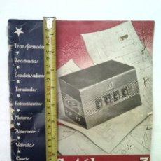 Radios antiguas: LIBRO CATALOGO RADIODINA Nº3 AÑOS 40 300 GRAMOS 28X2 CMS 19 ILS RADIOS . Lote 56283049