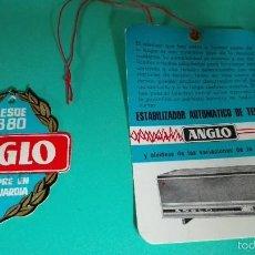 Rádios antigos: ETIQUETA ESTABILIZADOR TV ANGLO. Lote 56326924