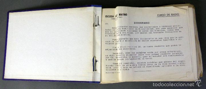 Radios antiguas: Curso de radio Fernando Maymó por Correo Escuela Radio 1958 Esquemas Formulario - Foto 2 - 56569778