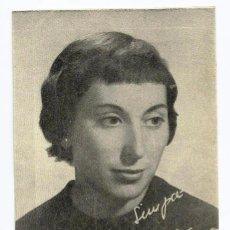Radios antiguas: FOTOGRAFÍA DE *JUANA GINZO*, OBSEQUIO DE -LA UNIÓN DE RADIOYENTES- AÑOS 40.. Lote 56752875