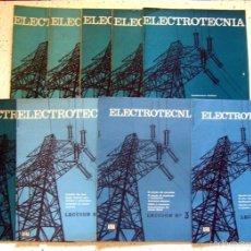 Radios antiguas - LOTE X 9 . REVISTA-FASCÍCULO -ELECTROTECNIA- EDICIONES AFHA . 1963 .CIRCUITOS , CONEXIONES , AVERÍAS - 57018769