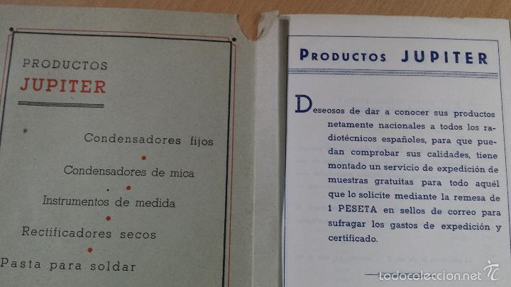 Radios antiguas: CONSTRUCCIONES IBERIA MATERIALES PARA LA RADIO JUPITER CONDENSADORES BARCELONA - Foto 2 - 57162368
