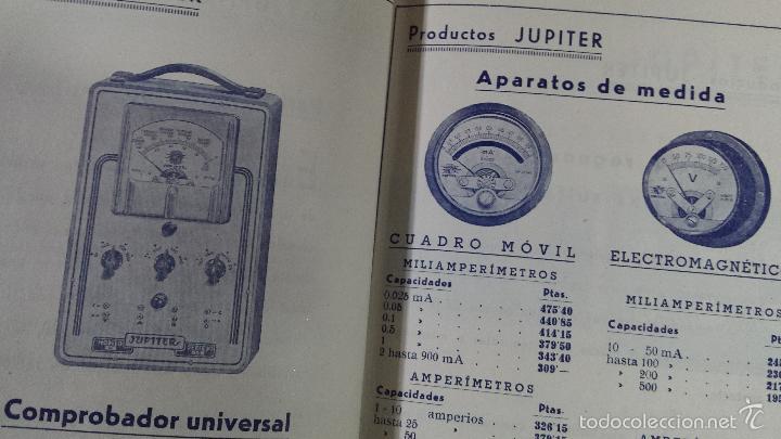 Radios antiguas: CONSTRUCCIONES IBERIA MATERIALES PARA LA RADIO JUPITER CONDENSADORES BARCELONA - Foto 4 - 57162368