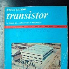 Radios antiguas: ELECTRONICA, ANTIGUA REVISTA ELECTRONICA, TRANSISTOR. Lote 57256470