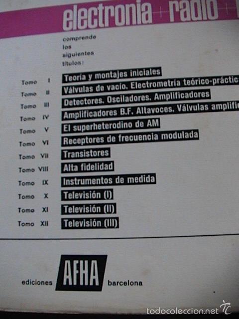 Radios antiguas: curso afha electronia radio tv. Tomos del 1 al 9. - Foto 2 - 57707090