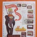 Radios antiguas: LAMINA REPRODUCCION ANTIGUA PUBLICIDAD 32 X 45 CM - GAMA RADIO IBERIA AÑO 1955. Lote 109152503