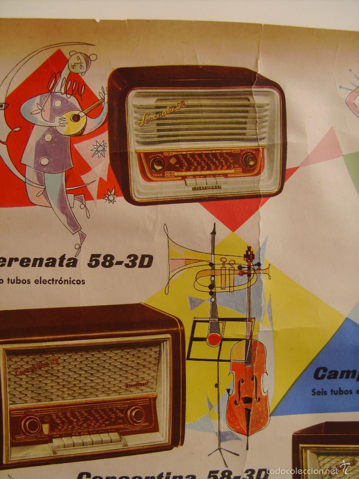 Radios antiguas: Cartel, poster radio Telefunken año 1958 a todo color - Foto 5 - 58251248