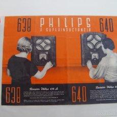 Radios antiguas: CARTEL, POSTER RADIO PHILIPS AÑOS 30. Lote 58251473