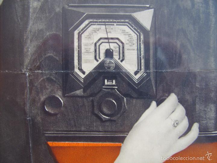 Radios antiguas: Cartel, poster radio Philips años 30 - Foto 2 - 58251473
