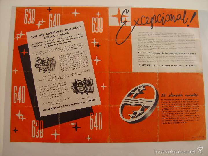 Radios antiguas: Cartel, poster radio Philips años 30 - Foto 5 - 58251473