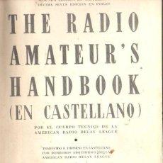 Radios antiguas: THE RADIO AMATEURS HANDBOOK EN CASTELLANO (1939). Lote 58366353
