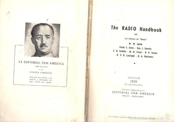 THE RADIO HANDBOOK EN CASTELLANO (1939) (Radios, Gramófonos, Grabadoras y Otros - Catálogos, Publicidad y Libros de Radio)