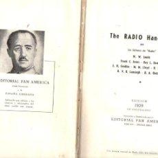 Radios antiguas: THE RADIO HANDBOOK EN CASTELLANO (1939). Lote 58366451