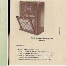 Radios antiguas: CATÁLOGO CON PRECIOS * RADIO RECEPTORES DUCAL * AÑO 1946-. Lote 58475342