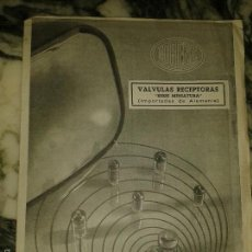 Radios antiguas: CATALOGO DE VALVULAS LORENZ. Lote 58528436