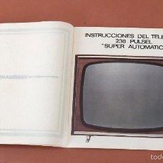 Radios antiguas: MANUAL DE INSTRUCCIONES TELEVISOR VANGUARD PULSEL. Lote 58539032