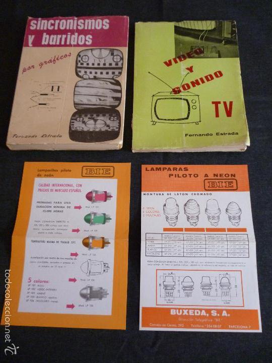 LOTE LIBROS FERNANDO ESTRADA DE TV Y RADIO +PUBLICIDAD (Radios, Gramófonos, Grabadoras y Otros - Catálogos, Publicidad y Libros de Radio)