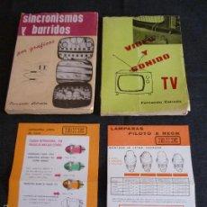 Radios antiguas - Lote libros Fernando estrada de tv y radio +publicidad - 58580087