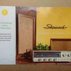 Radios antiguas: SHERWOOD RADIO AMPLIFICADOR ESTEREO HI-FI CATÁLOGO PUBLICIDAD 1967. Lote 58596380