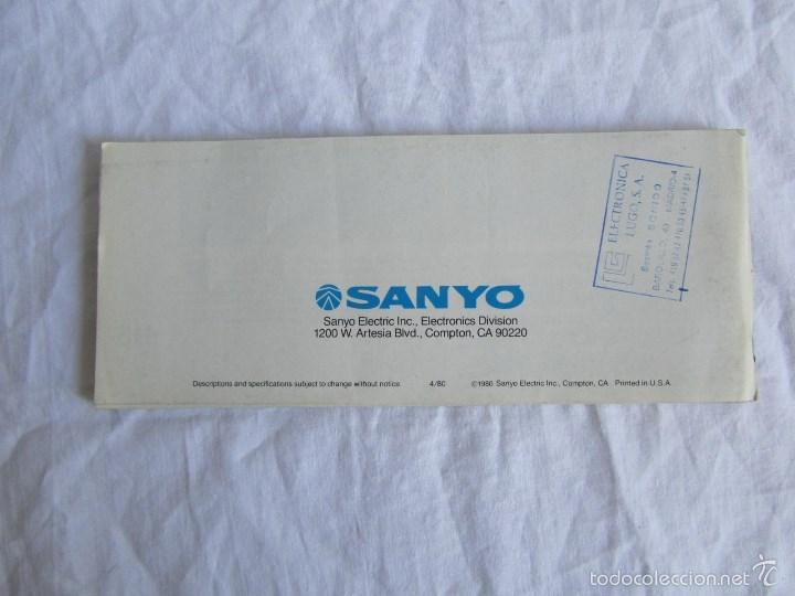 Radios antiguas: Catálogo general Sanyo 1980 - Foto 3 - 58642705