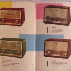 Radios antiguas: RADIOS ANTIGUAS PHILIPS. CATÁLOGO DE PUBLICIDAD. AÑOS 60.. Lote 58746147