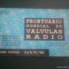 Radios antiguas: PRONTUARIO MUNDIAL DE VÁLVULAS DE RADIO. Lote 59762276