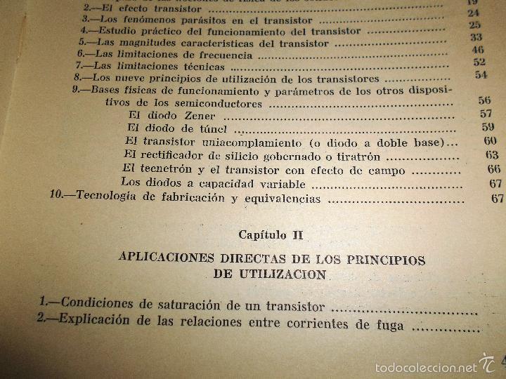 Radios antiguas: EMPLEO RACIONAL DE LOS TRANSISTORES. TODA LA PRÁCTICA DE LOS SEMICONDUCTORES . AÑO 1965 (ver índice) - Foto 3 - 61137027