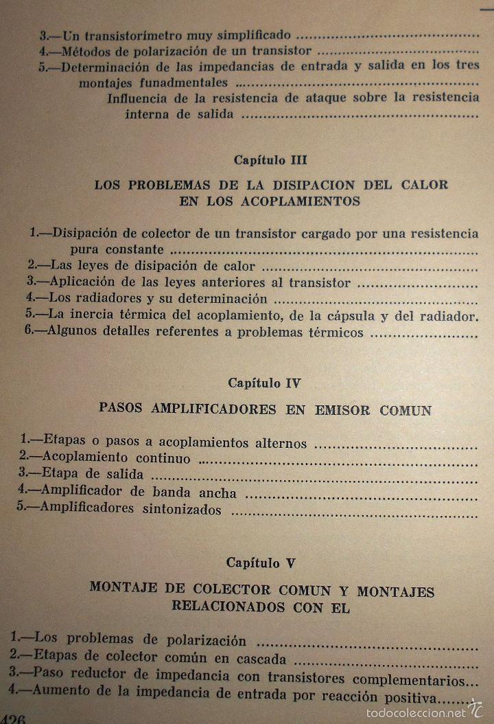 Radios antiguas: EMPLEO RACIONAL DE LOS TRANSISTORES. TODA LA PRÁCTICA DE LOS SEMICONDUCTORES . AÑO 1965 (ver índice) - Foto 4 - 61137027