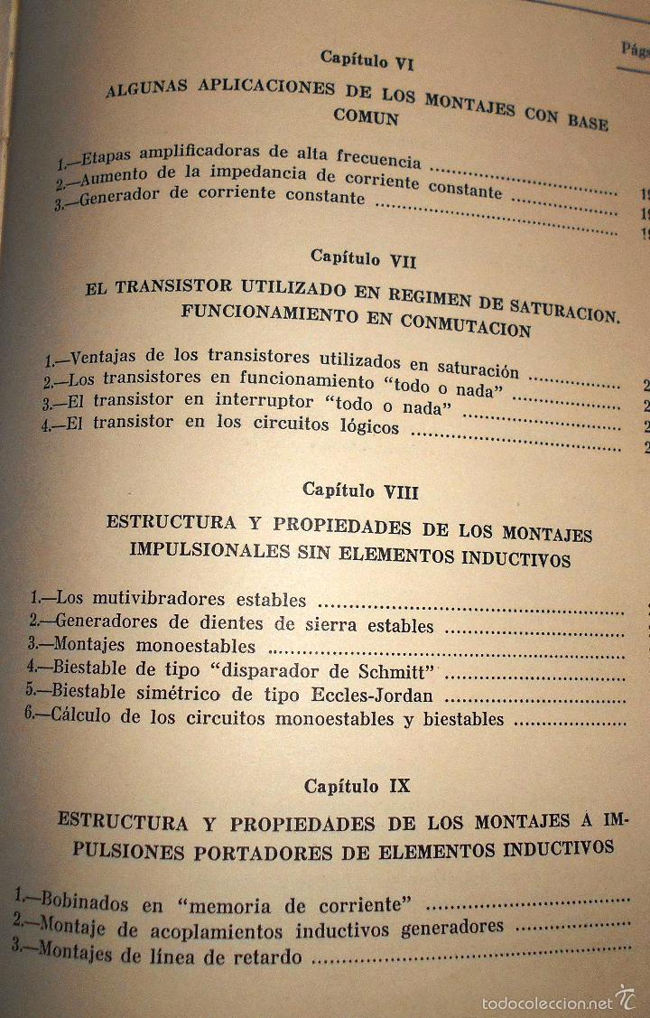 Radios antiguas: EMPLEO RACIONAL DE LOS TRANSISTORES. TODA LA PRÁCTICA DE LOS SEMICONDUCTORES . AÑO 1965 (ver índice) - Foto 5 - 61137027
