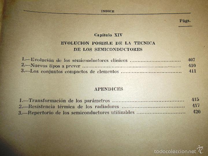 Radios antiguas: EMPLEO RACIONAL DE LOS TRANSISTORES. TODA LA PRÁCTICA DE LOS SEMICONDUCTORES . AÑO 1965 (ver índice) - Foto 7 - 61137027