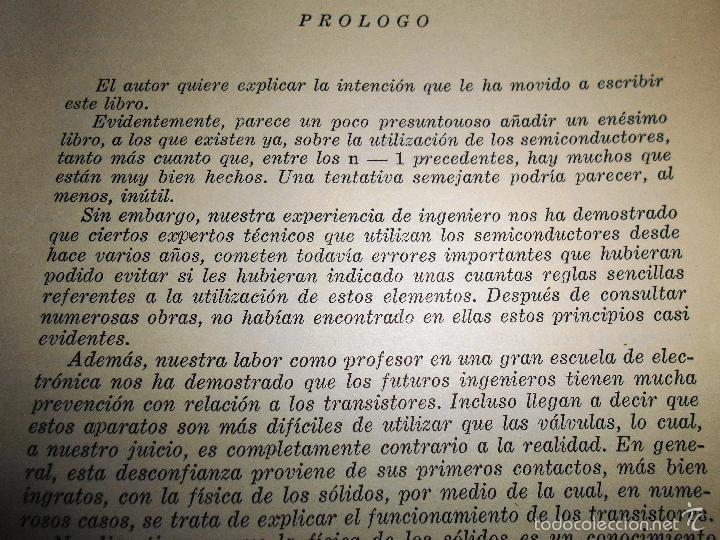 Radios antiguas: EMPLEO RACIONAL DE LOS TRANSISTORES. TODA LA PRÁCTICA DE LOS SEMICONDUCTORES . AÑO 1965 (ver índice) - Foto 11 - 61137027