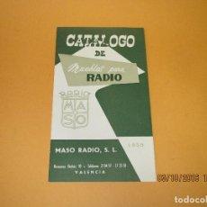 Radios antiguas - Antiguo Catálogo Desplegable de Muebles para Radio *RADIO MASO* Valencia Año 1959 - 62221332