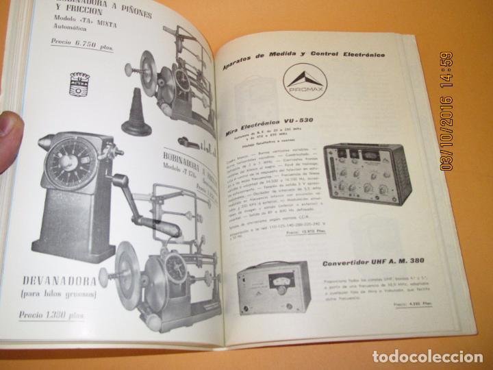 Radios antiguas: Catálogo Listín de Precios Componentes: Radio FM T.V. U.H.F. TRANSISTORES *RADIO CASTILLA* Año 1966 - Foto 2 - 62221860