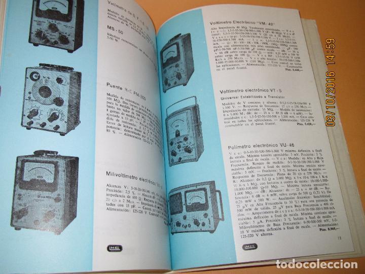Radios antiguas: Catálogo Listín de Precios Componentes: Radio FM T.V. U.H.F. TRANSISTORES *RADIO CASTILLA* Año 1966 - Foto 4 - 62221860