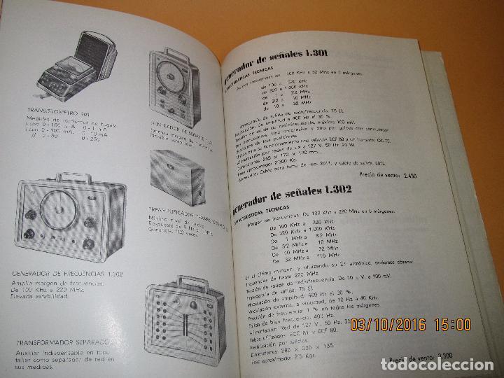 Radios antiguas: Catálogo Listín de Precios Componentes: Radio FM T.V. U.H.F. TRANSISTORES *RADIO CASTILLA* Año 1966 - Foto 5 - 62221860