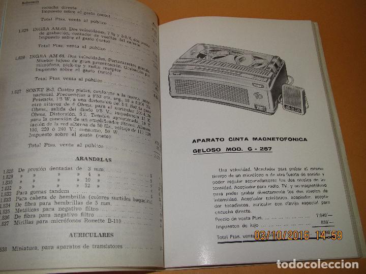 Radios antiguas: Catálogo Listín de Precios Componentes: Radio FM T.V. U.H.F. TRANSISTORES *RADIO CASTILLA* Año 1966 - Foto 7 - 62221860