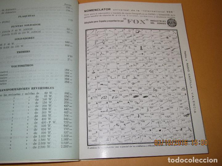 Radios antiguas: Catálogo Listín de Precios Componentes: Radio FM T.V. U.H.F. TRANSISTORES *RADIO CASTILLA* Año 1966 - Foto 9 - 62221860
