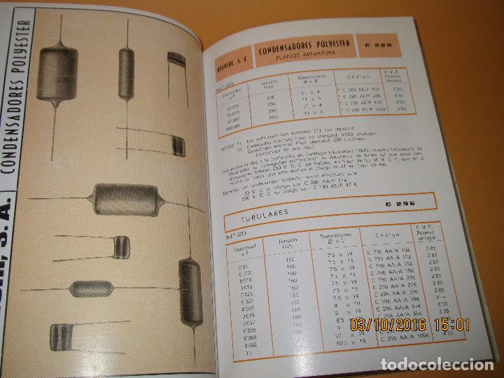 Radios antiguas: Catálogo Listín de Precios Componentes: Radio FM T.V. U.H.F. TRANSISTORES *RADIO CASTILLA* Año 1966 - Foto 11 - 62221860