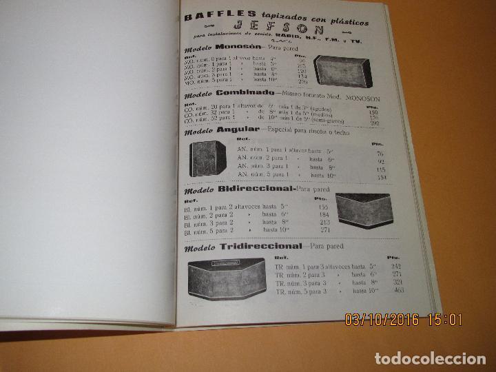 Radios antiguas: Catálogo Listín de Precios Componentes: Radio FM T.V. U.H.F. TRANSISTORES *RADIO CASTILLA* Año 1966 - Foto 12 - 62221860