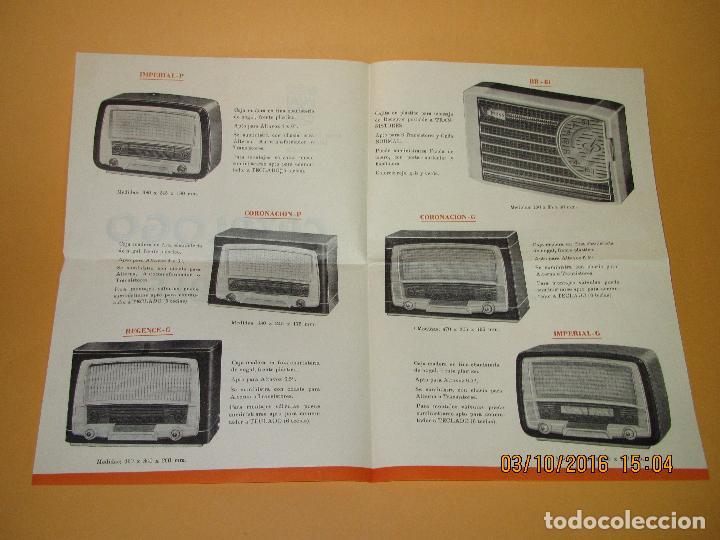 Radios antiguas: Antiguo Catálogo Díptico de Muebles de Radio *RADIO MASO* de Valencia del Año 1961-62 - Foto 2 - 62222316