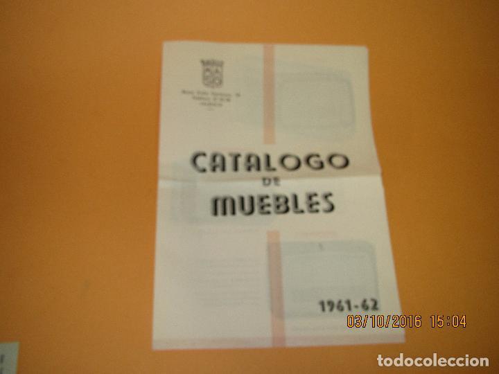 Radios antiguas: Antiguo Catálogo Díptico de Muebles de Radio *RADIO MASO* de Valencia del Año 1961-62 - Foto 3 - 62222316