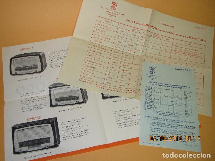 ANTIGUOS FOLLETOS CATALOGO TARIFA DE PRECIOS DE *RADIO MASO* DE VALENCIA AÑO 1961-62 (Radios, Gramófonos, Grabadoras y Otros - Catálogos, Publicidad y Libros de Radio)