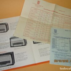 Radios antiguas - Antiguos Folletos Catalogo Tarifa de Precios de *RADIO MASO* de Valencia Año 1961-62 - 62222980
