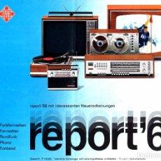 Radios antiguas: CATALOGO TELEFUNKEN 1968. RADIOS, TELEVISORES ETC.. Lote 62552924