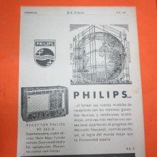 Radios antiguas: PUBLICIDAD 1947 - COLECCION ELECTRONICA - RADIO PHILIPS BE-362-A. Lote 62668804