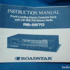 Radios antiguas: MANUAL DE INSTRUCCIONES ROADSTAR RS-5670. Lote 63265472