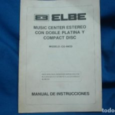 Radios antiguas: -MANUAL DE INSTRUCCIONES ELBE MODELO: CO-60CD. Lote 63265688