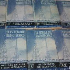 Radios antiguas: LA ESCUELA DEL RADIOTECNICO 7 TOMOS. Lote 63536124